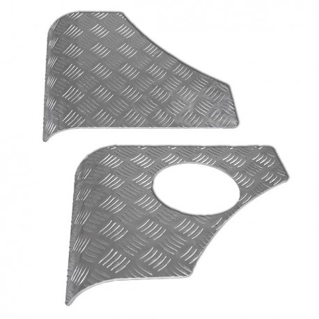 Chequer plate rear corners